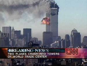 CNN Screenshot of 9/11 breaking news