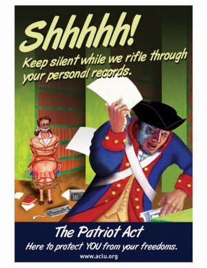 ACLU Patriot Act Poster