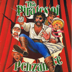 Pirates of Penzance, featuring Tim Curry, Program cover