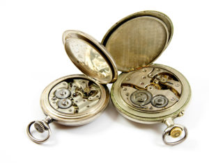Old watches open